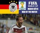 Mario Götze, nejlepší hráč finále. Brazílie 2014 mistrovství světa ve fotbale