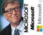 Bill Gates, podnikatel a americký počítačový vědec, spoluzakladatel společnosti Microsoft software