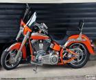 Harley Davidson oranžové