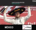 Nico Rosberg slaví vítězství v Grand Prix Mexika 2015
