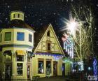 Ulice s vánoční osvětlení