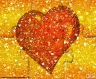 Puzzle červené srdce