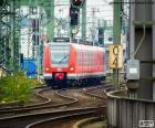 Regionální vlak red při zadávání pásma křivek