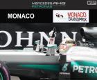 Lewis Hamilton slaví své první vítězství v sezóně v roce  Grand Prix Monaka 2016