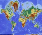 Reliéfní mapa světa