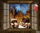 Vánoční trh, okno