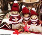 Tři vánoční panenky