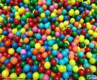 Bazén barevných kuliček