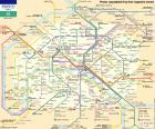 Mapa metra v Paříži