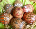 Puzle Krásná velikonoční vajíčka