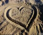 Puzle Srdce na pláži