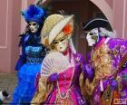 Puzle Klasický kostým benátská