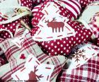 Vánoční ozdoby, tkanina