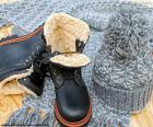 Černé zimní boty