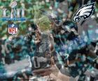 Philadelphia Eagles, šampiony Super Bowl 2018 bití New England Patriots 41-33. To je jeho první Super Bowl