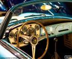 Přístrojový panel automobilu klasického auta