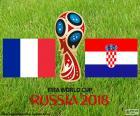 Francie vs. Chorvatsko. Finále Mistrovství světa ve fotbale Rusko 2018. Olympijský stadion Lužniki, Moskva, 15 července 2018