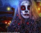 Gothic Halloween maska