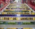 Puzle Schodiště Selarón, Brazílie