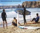Puzle Surfaři na pláži