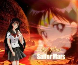 Puzle Rei Hino transformuje do Sailor Mars