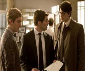 Puzle Reportér Clark Kent v budově Daily Planet, noviny, kde pracuje