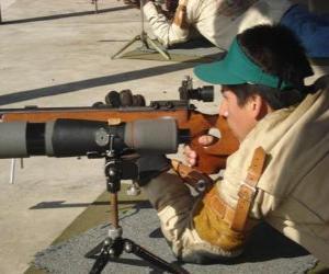 Puzle Rifle střelec v akci