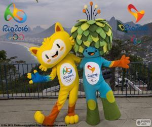 Puzle Rio 2016 olympijské maskoty
