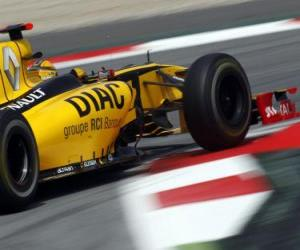 Puzle Robert Kubica - Renault - Barcelona 2010