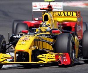 Puzle Robert Kubica - Renault F1 - Silverstone 2010