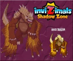 Puzle Rock Dragon. Invizimals Shadow Zone. Skalní draci žijí v kráterech sopek