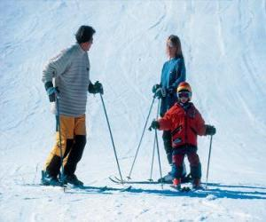 Puzle Rodinné lyžování
