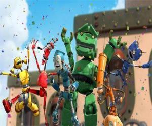 Puzle Rodney přátelé v Robot City - Rusties led by Fender