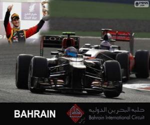 Puzle Romain Grosjean - Lotus - 2013 Grand Prix Bahrajnu, 3 klasifikované