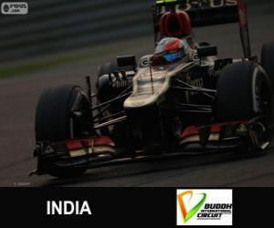Puzle Romain Grosjean - Lotus - 2013 indické Grand Prix, 3 klasifikované