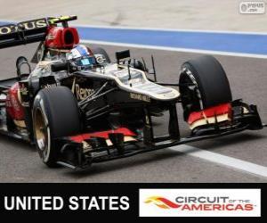 Puzle Romain Grosjean - Lotus - 2013 Grand Prix USA, svírající klasifikované
