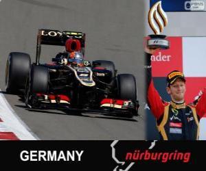 Puzle Romain Grosjean - Lotus - Grand Prix Německa 2013, 3. utajované