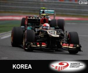 Puzle Romain Grosjean - Lotus - Grand Prix Koreje 2013, 3 klasifikované