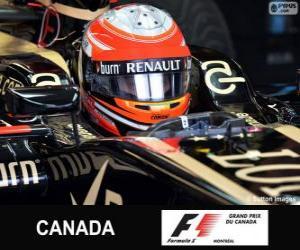 Puzle Romain Grosjean - Lotus - okruh Gilles Villeneuve, Montreal, 2013