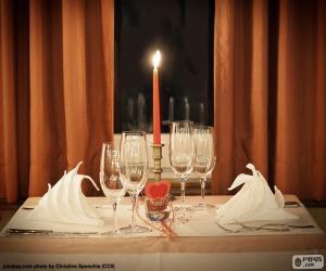 Puzle Romantická večeře