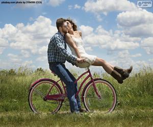 Puzle Romantické bike ride
