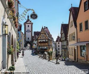 Puzle Rothenburg, Německo
