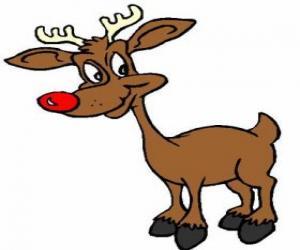 Puzle Rudolf, červený nos reindee