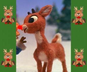 Puzle Rudolph, červená-čichal soby