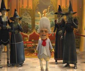 Puzle Rumpelstiltskin je král s čarodějnicí ejérctio Vašich objednávek