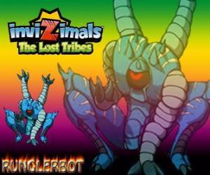 Puzle Runglerbot. Invizimals The Lost Tribes. Bojovník agilní a všestranný protože zaútočit, se všemi částmi těla