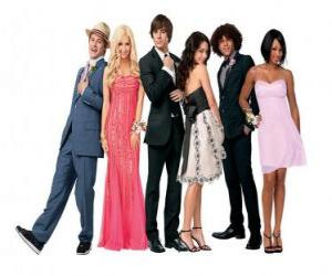 Puzle Ryan Evans (Lucas Grabeel) Sharpay Evans (Ashley Tisdale), Troy Bolton (Zac Efron), Gabriella Montez (Vanessa Hudgens), Chad (Corbin Bleu) Taylor (Monique Coleman), velmi elegantní