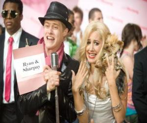 Puzle Ryan Evans (Lucas Grabeel), Sharpay Evans (Ashley Tisdale) vzrušený