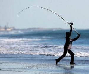 Puzle Rybář na pláži
