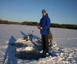 Puzle Rybaření pod ledem